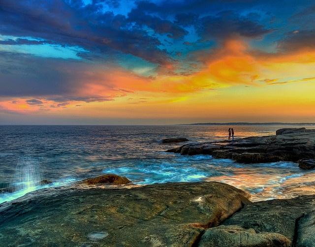 Sunset On York Beach, Maine