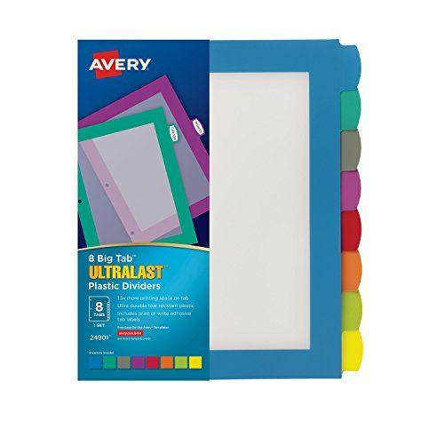 Avery Ultralast Big Tab Plastic Dividers, 8 Tabs, 1 Set, ... https://www.amazon.com/dp/B00XOJ9Z8W/ref=cm_sw_r_pi_dp_x_NnrHyb9TM4T26