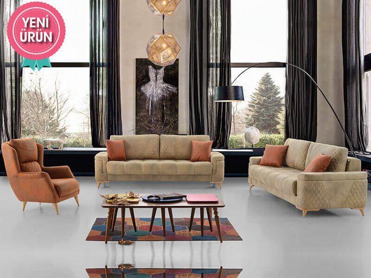 Puffy Lux Modern Koltuk Takımı konforu ve zarifliği ile sizin için tasarlandı!  #Mia #Modern #Koltuk #Takımı #Sönmez #Home #Mobilya #Mekanizma