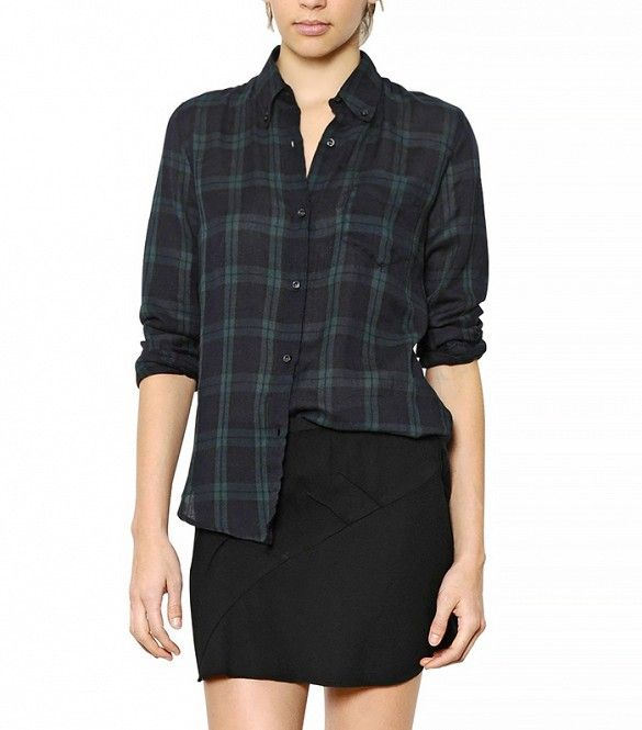 Isabel Marant Plaid Cotton Flannel Shirt ($255)
