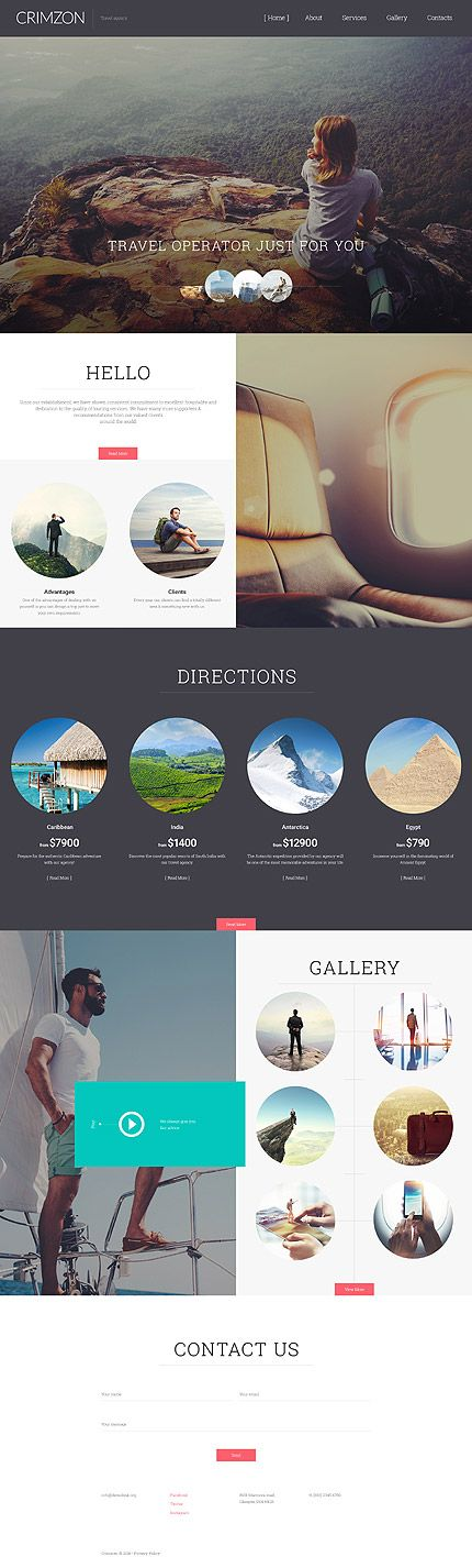 Travel website inspirations at your coffee break! Browse for more Responsive JavaScript Animated #templates! // Regular price: $69 // Sources available: .HTML,  .PSD #Travel #Responsive #JavaScript #Animated #hotel #rest #booking #reservation #location #t