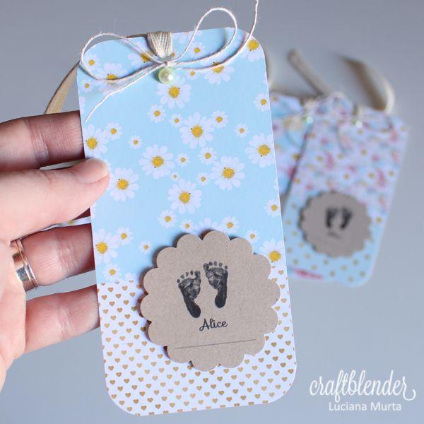 Tags de nascimento Daisies