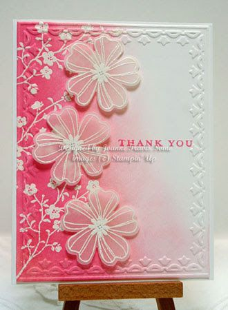 Luv the shading of the two pinks beautiful card stampin up