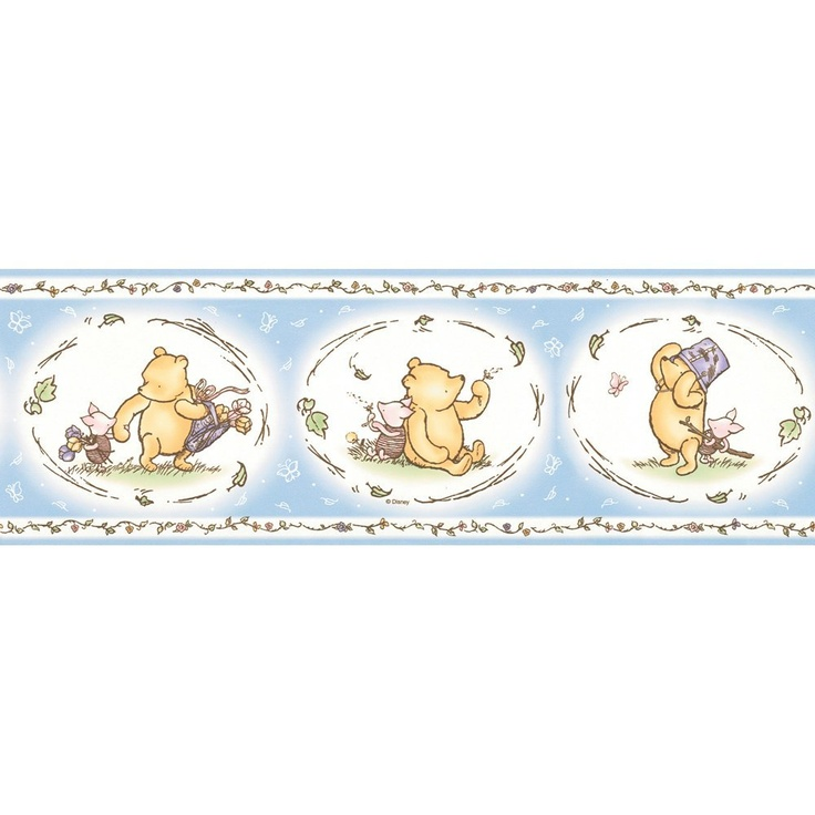 Pooh Classic Wall Border, Pastel Blue, (With images