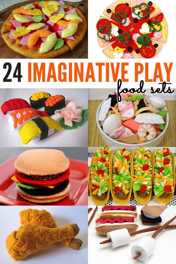 24 Fabulous Handmade Pretend Food Play Sets