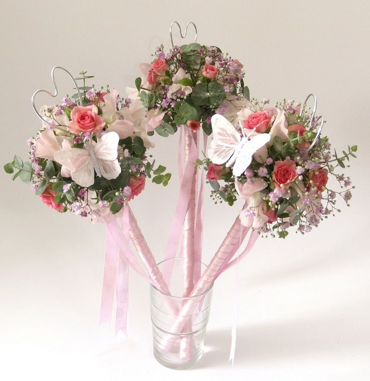 Flower Girl Baskets Bouquets : Best flower girl wand ideas on wands for