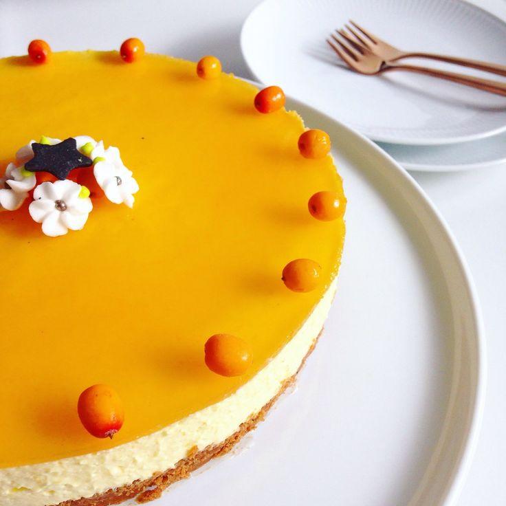 Cheesecake med mango og havtorn. | Foodfashion by Camilla Pejdal