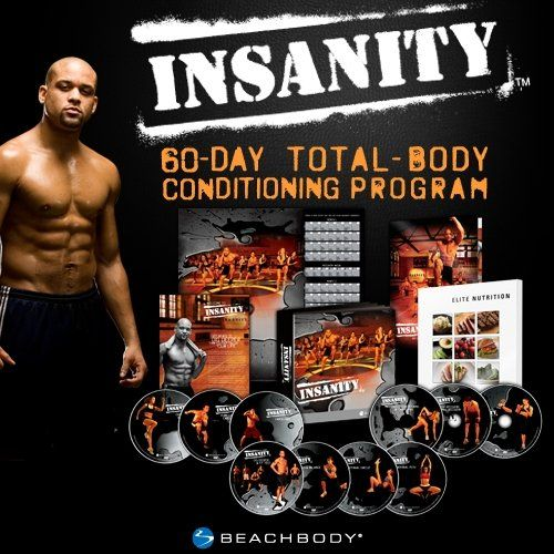 INSANITY: 60-Day Total Body Conditioning Workout. I have this set and I'm trying to get into a lil bit better shape before tackling it bc it's hard core.