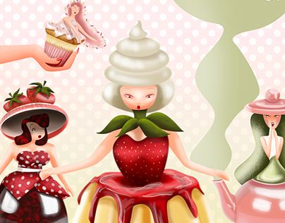 """Check out new work on my @Behance portfolio: """"Digital Illustration: Sweet Ladies"""" http://be.net/gallery/36674043/Digital-Illustration-Sweet-Ladies"""