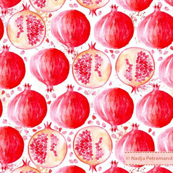 Siempre me han encantado las granadas . Aparte del sabor me parece una fruta que se presta mucho a dibujarla.  Por eso me apetecía publicar ...