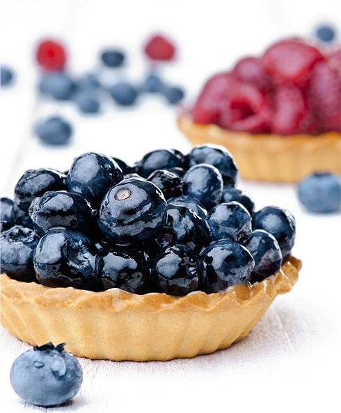 Tart with blueberries /Hania Pawlowska