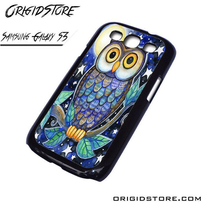 owl watercolor Samsung Galaxy case Samsung Galaxy S3 Samsung Galaxy S3 cover Samsung Galaxy