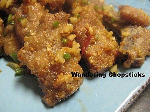 Chinese Deep-Fried Pork Chops Spicy Salt Hong Kong Cafe Taiwanese Garlic Jalapeno