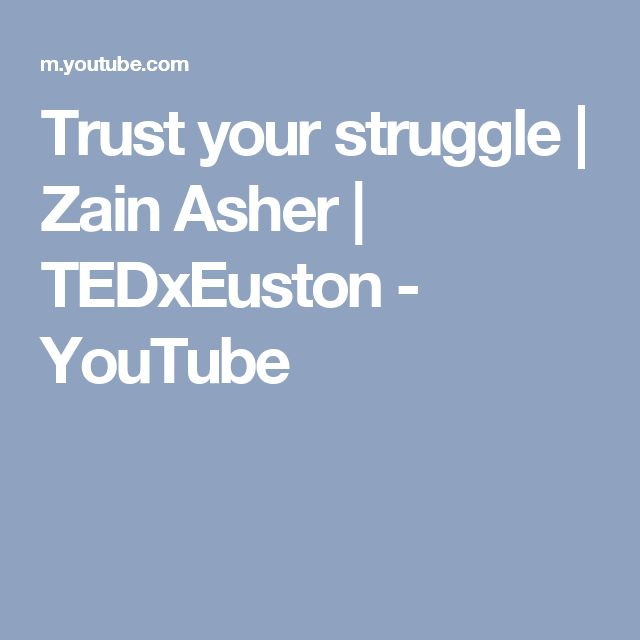 Trust your struggle | Zain Asher | TEDxEuston - YouTube