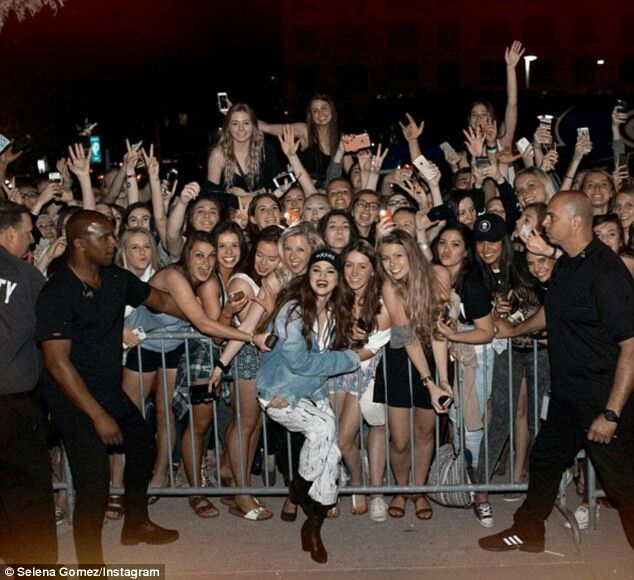 Sel with fans!