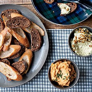 Must-Serve Thanksgiving Appetizers | Austrian Cheese Spread with Pumpkin Seed Oil  | MyRecipes.com