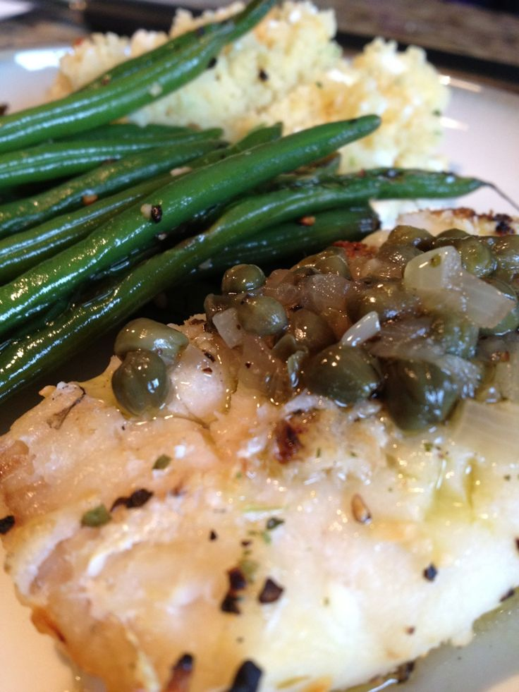 A Healthy Makeover: Grilled Haddock with Lemon-Caper Sauce
