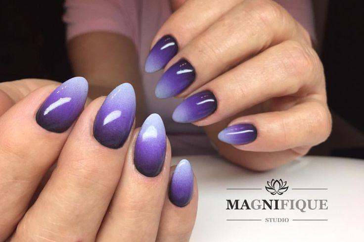"""Ombre Nails Indigo Gefällt 25 Mal, 1 Kommentare - Magnifque Studio (@magnifique_studio_indigo_nails) auf Instagram: """"Ultrafiolet, lavender, Black Poison #indigonails #gelbrushindigo #ultraviolet #ombre #ombrenails…"""""""