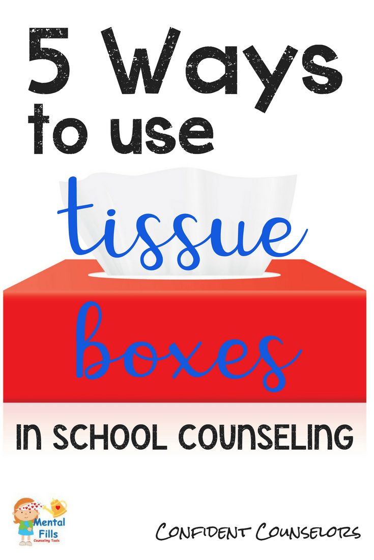 5 ways counselors can use tissue boxes in sessions. The recycled tissue boxes below can be used both as craft projects and/or therapeutic tools in groups and individual sessions. Included: Self-Esteem Magazine Collage, Tear Collector, Game Box, Wish Box, Mindfulness Box.