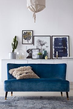 Ellos Home Sininen Fredrika-sohva