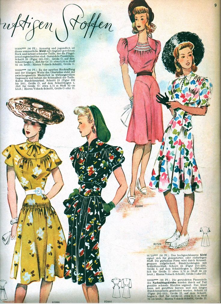 Sew Something Vintage 1940s Fashion: 21 Best 1940-1945 Fashion Images On Pinterest
