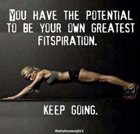 You have the potential to be your own greatest fitspiration. Keep going! 💪 👌 Share it with your friends and family if you agree!  😃 Follow us for more! #health #fitness #fit #fitnessmodel #fitnessaddict #fitspo #workout #bodybuilding #cardio #gym #train #training #photooftheday #health #healthy #healthychoices #active #strong #motivation #instagood #determination #lifestyle #diet