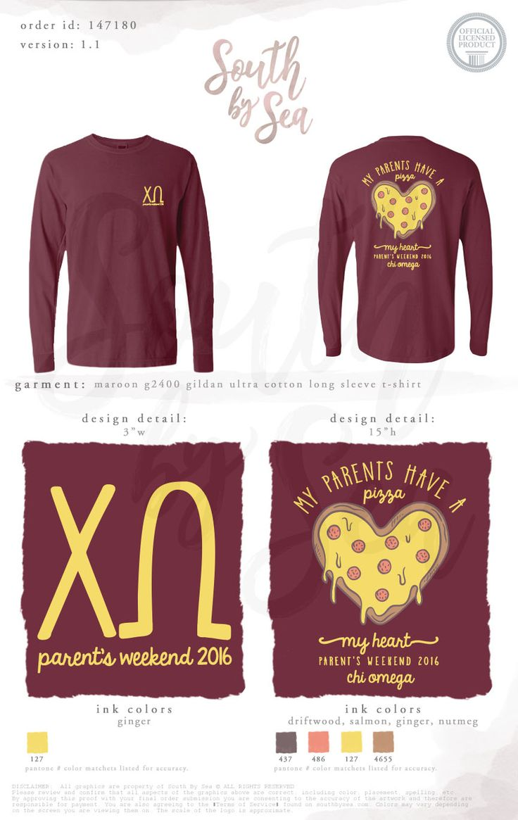 Chi Omega | Chi O | My Parents Have a Pizza My Heart | Parents Weekend | South by Sea | Greek Tee Shirts | Greek Tank Tops | Custom Apparel Design | Custom Greek Apparel | Sorority Tee Shirts | Sorority Tanks | Sorority Shirt Designs