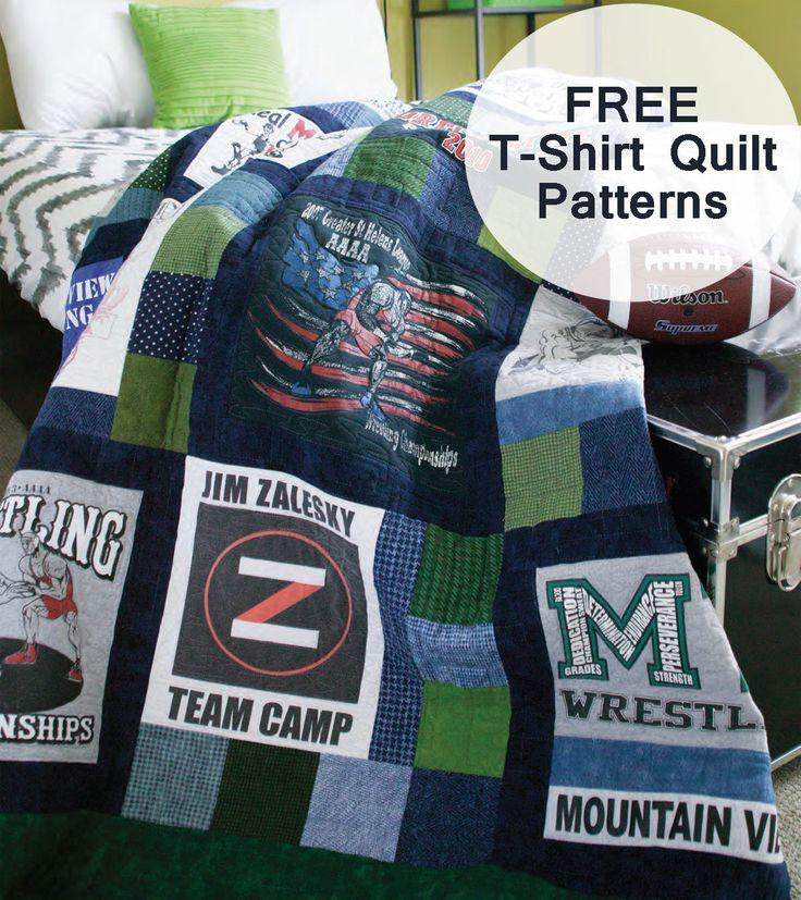 The 25+ best T shirt quilt pattern ideas on Pinterest | T shirt ... : turning t shirts into quilts - Adamdwight.com