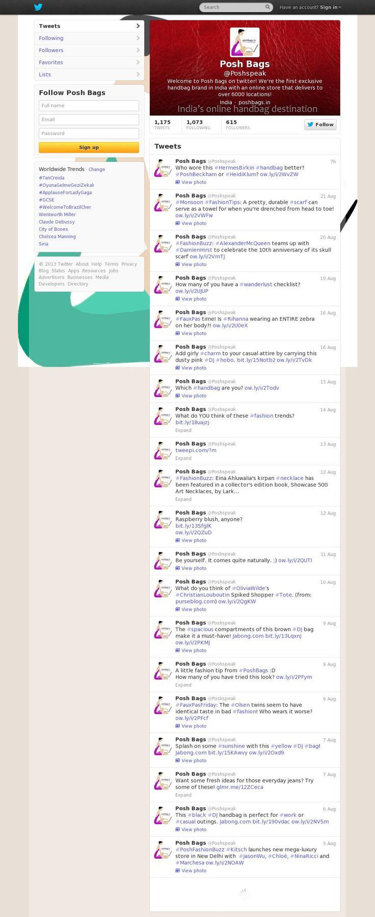 POsh Speaks on #twitter @Twitter Inc.