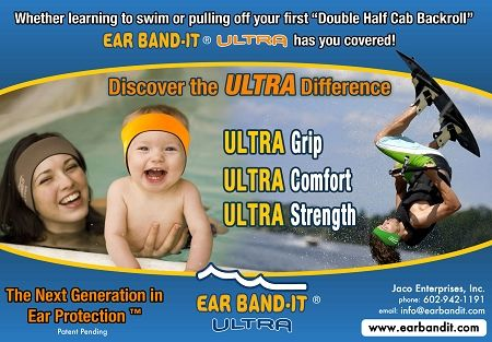 Ear Band-It® Ultra w/ pair of Floating Putty Buddies® Ear Plugs