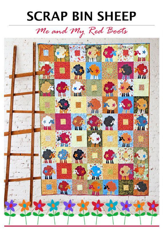 2a873906b7adb8 Scrap Bin Sheep PDF Quilt Pattern