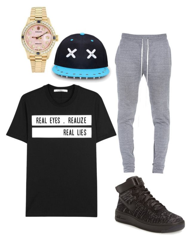 """Hip-hop Dancing"" by milly-burley on Polyvore featuring Fear of God, NIKE, Givenchy and Rolex"