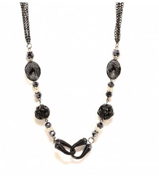 Cute coil, mesh and spiral necklace!