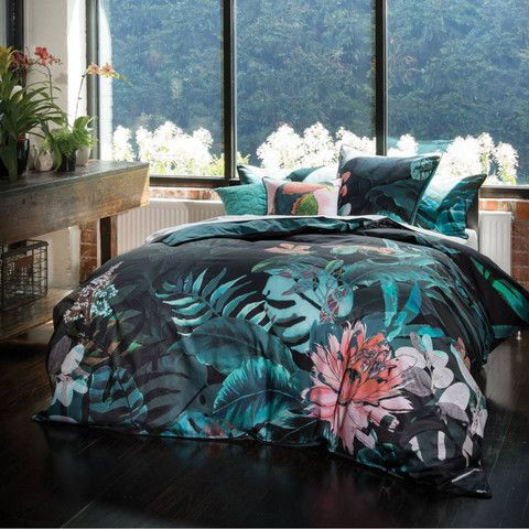 Greenhouse Teal Quilt Cover Set by Linen House