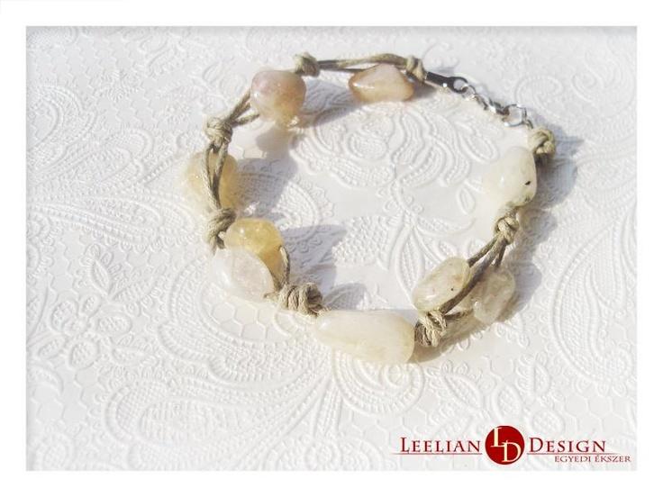 Citrine bracelet.  Citrin karkötő
