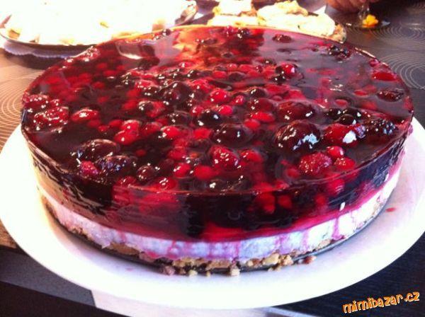 MOUČNÍKY, POHÁRY - Snadný zdravý  nepečený a rychlý dortík s ovocem i v zimě