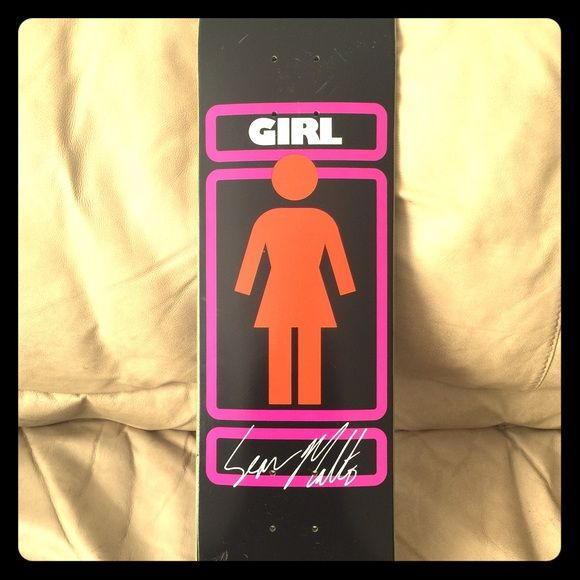 Girl Skateboard Deck Size 7.75 girl skate deck with grizzly grip tape. Bought and never used. Girl Other