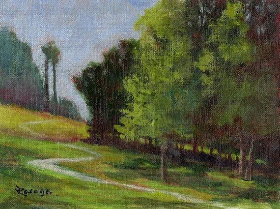 Original painting by Bernie Rosage Jr... NC Landscape... The Park... $40
