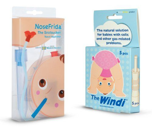 NoseFrida and The Windi - Basic Set by FridaBaby. $32.95. This is a combination package of the NoseFrida Nasal Aspirator (includes 4 hygiene filters) and The Windi Colic and Gas Reliever. A basic newborn essential set that no parent should be without! Nosefrida Baby Nasal Aspirator (lovingly referred to as The Snotsucker) is a BPA-Free nasal aspirator that is designed to remove mucus from your babys airways without damaging delicate mucous membranes. Each N…