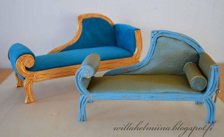 How to make dollhouse antic sofa.