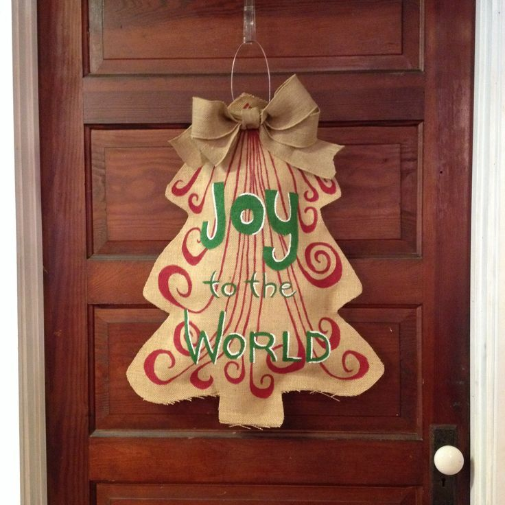 Image Result For Burlap Door Hanger Template Christmas Pinterest