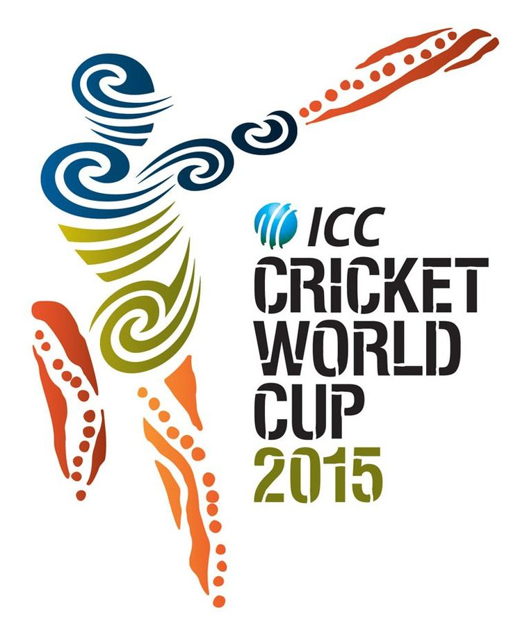 Cricket World Cup 2015 Logo - organic feel, patterns.