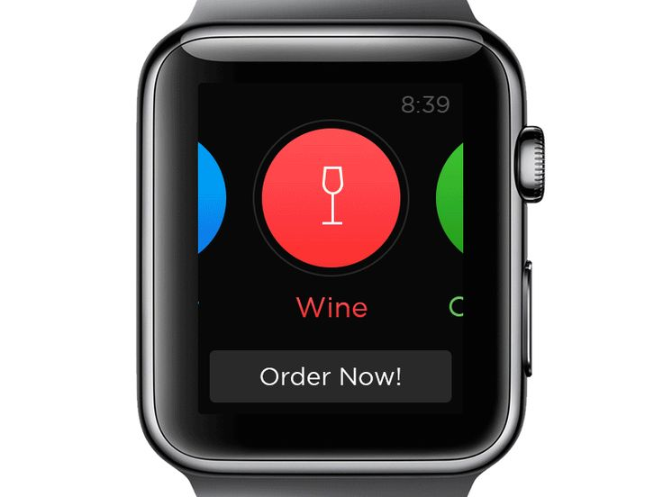 Last week I was playing around with Apple Watch UI and this is little app I designed. Beer ordering has never been easier. :-)  Inspired by this.