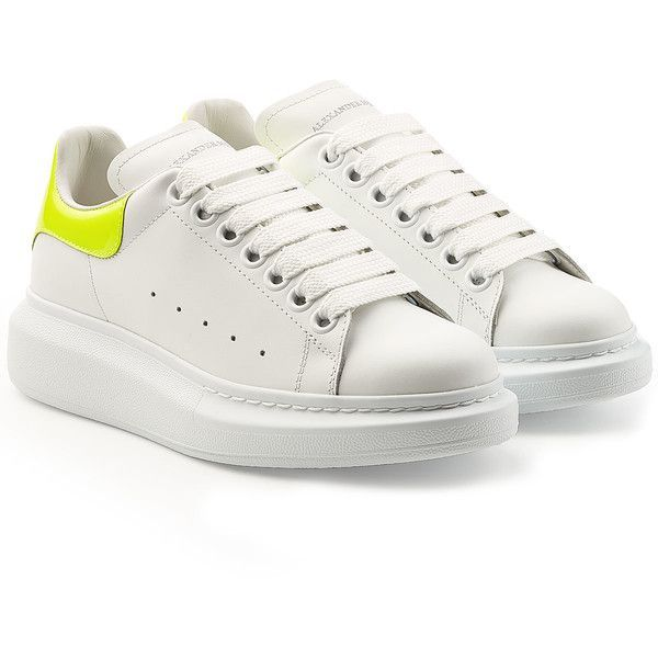 Alexander McQueen Leather Sneakers ($515) ❤ liked on