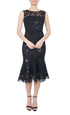 Midnight Guipure Lace Dress
