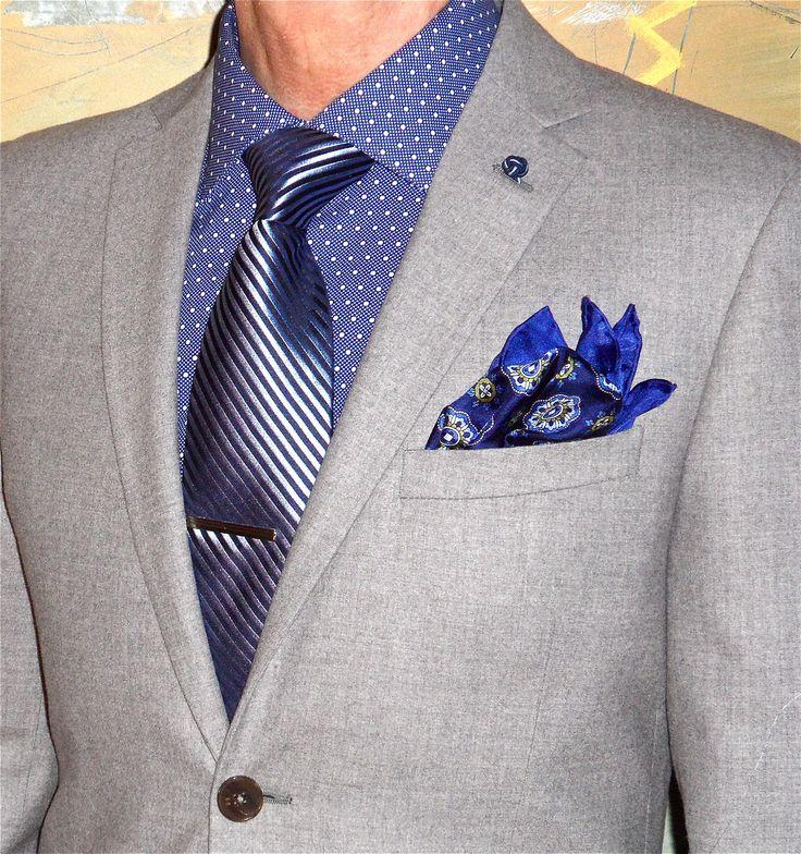 Hilton grey flannel suit, Perry Ellis shirt, Burma Bibas tie… #menstyle #menswear #menscouture #mensfashion #instafashion #fashion #hautecouture #sartorial #sprezzatura #style #dapper #dapperstyle #pocketsquare #gotstyle #shopgotstyle