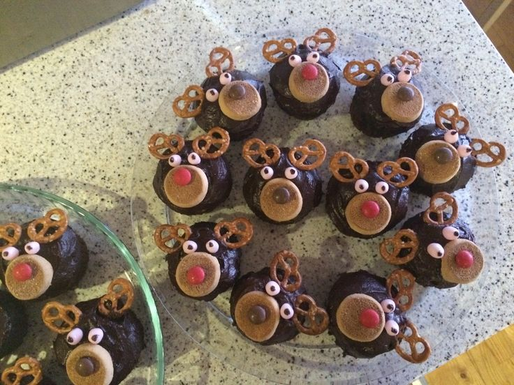 Rensdyr cupcakes