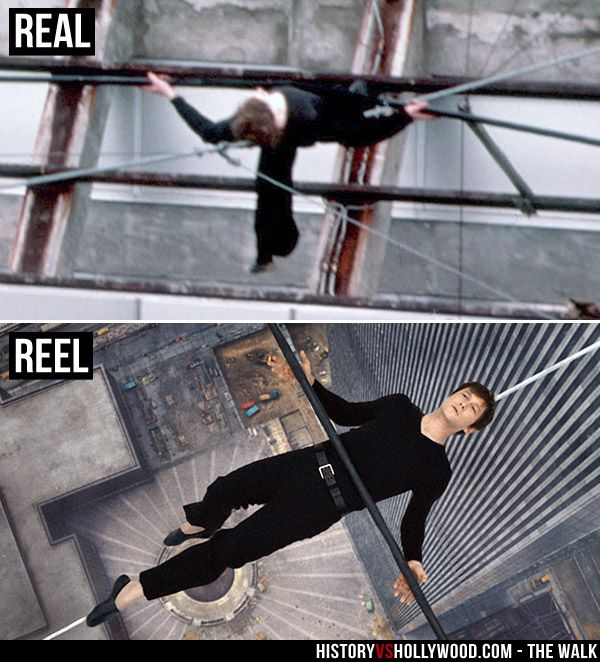 Philippe Petit Lies On His High Wire Between The Twin