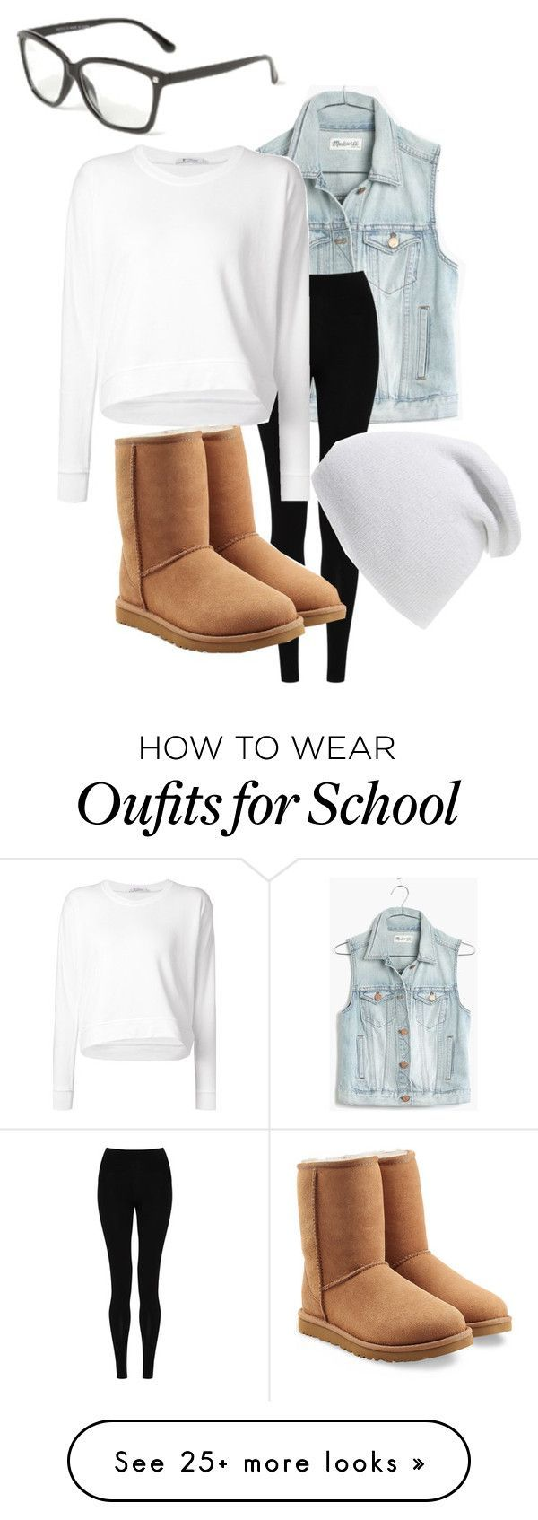 """""""School mouse"""" by galaxygirl11 on Polyvore featuring Madewell, M&S Collection, Alexander Wang, UGG Australia and Phase 3"""