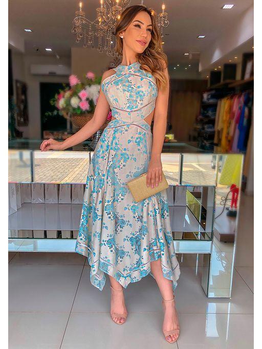 Vestido-Renda-Linho-Pontas | Vestidos, Vestidos estilosos, Vestidos longos estampados